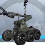 PIAP IBIS is a mobile robot designed for pyrotechnic operations and reconnaissance